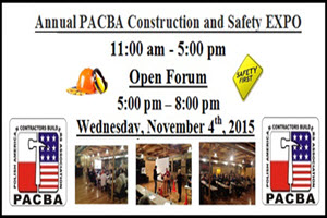 PACBA Construction and Safety EXPO 2015