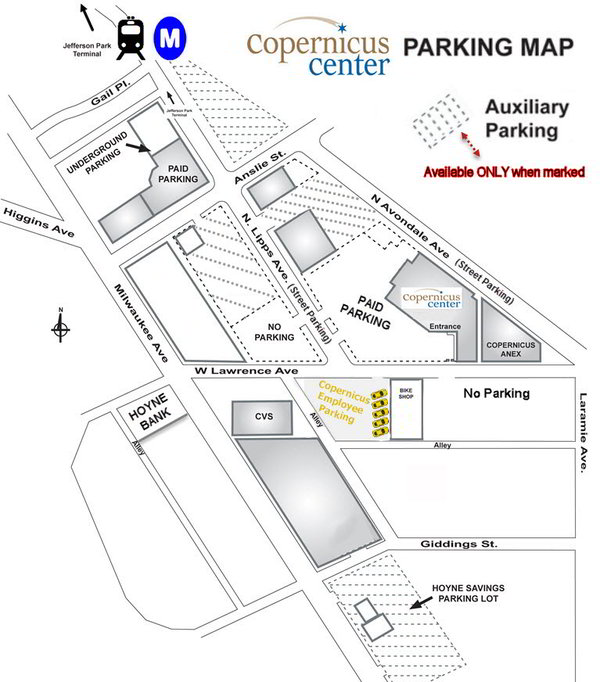 Copernicus Center PARKING MAP