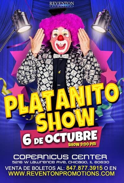 Platanito Show en Chicago , Viernes 6 de Octubre 2017, Comedia en Chicago, Copernicus Center