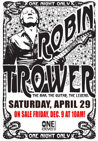 Robin Trower, Chicago events, rock concert, Chicago, Copernicus Center, One Eleven Productions, Robin Trower Chicago, english rock guitarist, blues rock live, hard rock live, 60s music, 70s music, Robin Trower concert, Robin Trower tickets