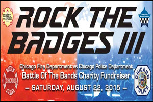 CFD, CPD, Battle of the Bands, Rock the Badges, 2015, police fundraiser, fire department, fundraiser, bands, live bands, Chicago, It's About Time, Sami Lin, NORTHSIDE, Copernicus Center