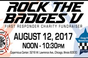 Chicago Police, Chicago Firefighters, Memorial, Garrido, Jenny Rockis, Fort Knox Studio, Copernicus Center, rock concerts, fundraiser, family events, live music, chicago, cpd, cfd, ignite the spirit, Rock the Badges, Rock the Badges 2017