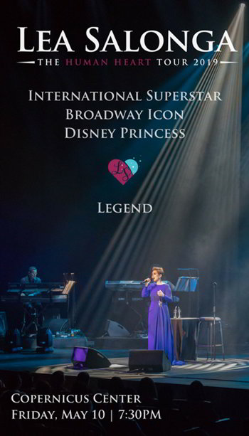 Lea Salonga, Broadway, Disney, Aladdin, Mulan, The Voice, Philippines, Human Heart, Once on This Island, Les Miserables, Miss Saigon, Flower Drum Song, Concert, Blurred Lines. Copernicus Center Chicago, Live concerts Chicago, 10 May 2019