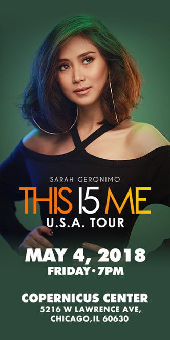 Sarah Geronimo, Sarah G Concert Chicago, This 15 Me Sara Geronimo Chicago, Viva Artists Agency, Mark Bautista, Sam Concepcion, Sarah Geronimo 15th Anniversary Concert, Sarah Geronimo UsA Tour, Sarah Geronimo Concert Chicago, Copernicus Center Chicago, 5/4/2018, Sarah Geronimo tickets