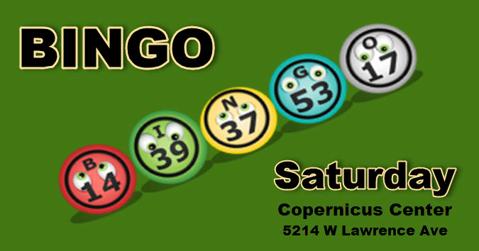 Saturday Bingo, Chicago Bingo, Bingo in Chicago, Jefferson Park, copernicus Center, ICE, bingo fundraiser