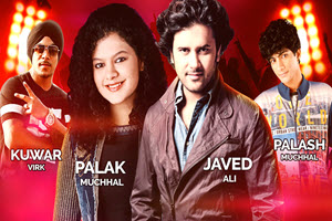 Live concert, Javed Ali, Palak Muchhal, Kuwar Wirk, Palash Muchhal, Chicago events, bollywood show, studio elite, Chicago, Copernicus Center, Indian events, heartthrobs, sensational singing Heart throbs, sensational singing heartthrobs