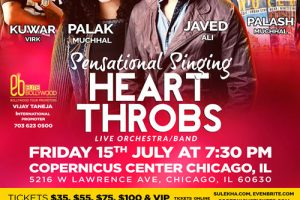 Live concert, Javed Ali, Palak Muchhal, Kuwar Wirk, Palash Muchhal, Chicago events, bollywood show, studio elite, Chicago, Copernicus Center, Indian events