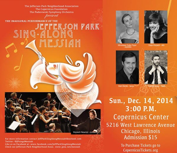 Jefferson Park Sing-Along Messiah | christmas | Jefferson Park | Sing Along Messiah | Chicago | Copernicus Center | paderewski symphony orchestra | PASO