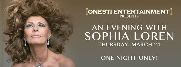 3/24/2016, An Evening with Sophia Loren, Chicago, march 2016, Onesti Entertainment, Onesti Sophia Loren, Ron Onesti, Ron Onesti Sophia Loren, Sophia Loren, Sophia Loren Chicago, Copernicus Center