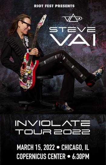 Steve Vai Inviolate Tour 2022