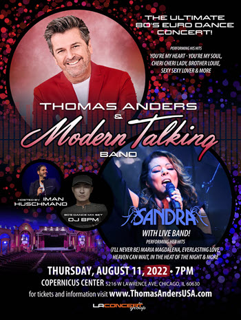 Thomas Anders & Sandra in Chicago