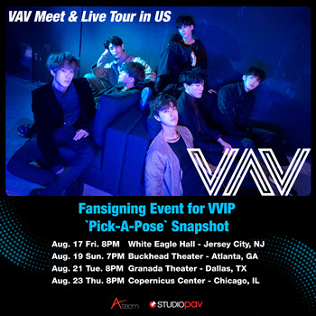 VAV Meet & Live Tour, VAV, US Tour, Studio PAV, VAV in Chicago, Copernicus Center, live k-pop concert, live music Chicago, 8-23-2018