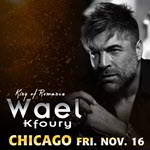Wael Kfoury in Chicago, Live Chicago Concerts, Copernicus Center Chicago, 16 November 2018, 11/16/2018, Arabic music events in Chicago