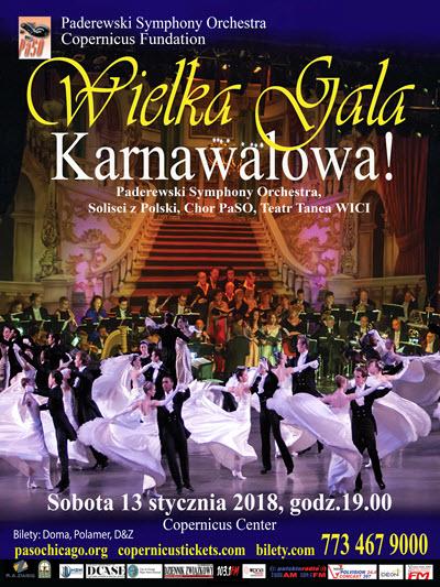 carnival, karnawal, muzyka straussow, strauss jozef, kalman, strauss syn. waltz, walc, polka, dance company wici, paderewski symphony orchestra, PaSO, offenbach, opera, operetta, oeretka, arie duety operowe, barbara bilszta, paso, chor paso, wielka slawa to zart, bindisi, blue danube, cesarski walc, champagne polka, trich trach polka, Polskie wydarzenia w Chicago, Polskie Wydarzenia, polskie koncerty, imprezy w Chicago polskie imprezy, Wydarzenia, imprezy w Chicago, Chicago, Copernicus Center, Copernicus Tickets, Bilety w Chicago