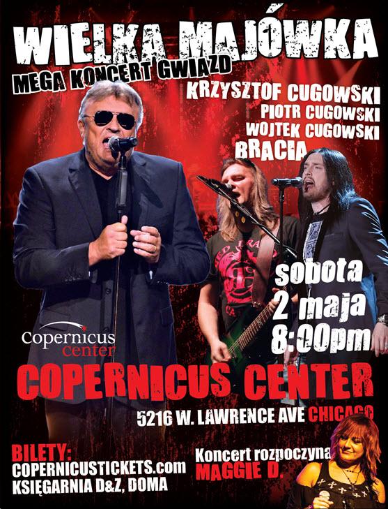 Krzysztof Cugowski, Bracia, Chicago, Polskie Wydarzenia, koncerty, imprezy, Copernicus Center