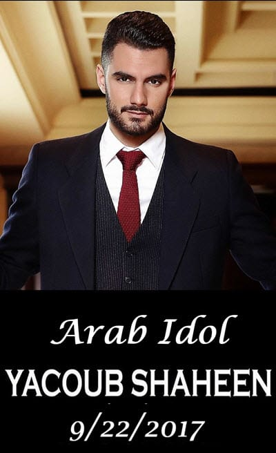 Arab idol, Yacoub Shaheen, Dib Entertainment, arabic concert, arabic music, chicago arabs, Copernicus center, Palestinian singer, mike dib, middle eastern concert, middle eastern music, Arab events, arabs in chicago, talents and events, 9/22/2017