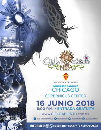 Cielo Abierto Chicago 2018, Kairy Márquez, Lizzete Sánchez, Tribeza, Joan Sánchez y Grupo Emmanuel, eventos Chicago, Copernicus Center Chicago, 16 de junio 2018