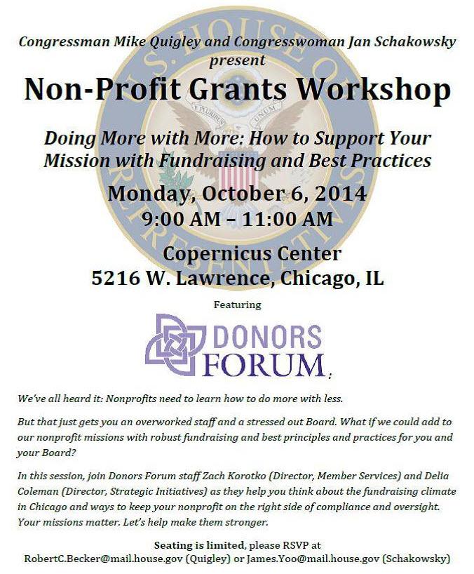 non-profit | Grant | workshop | chicago | copernicus center